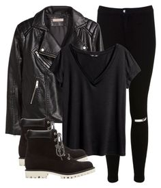 """""""Theo Raeken All Black Inspired Outfit"""" by itskaitlynguis ❤ liked on Polyvore featuring Miss Selfridge, H&M and Charlotte Russe"""