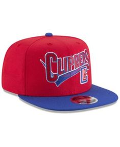 New Era Los Angeles Clippers Retro Tail 9FIFTY Snapback Cap - Red  Adjustable Los Angeles Clippers 80238ee0cbc2