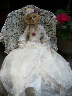 Blossom Boudoir Doll Bed Doll Cloth Vintage Antique | eBay