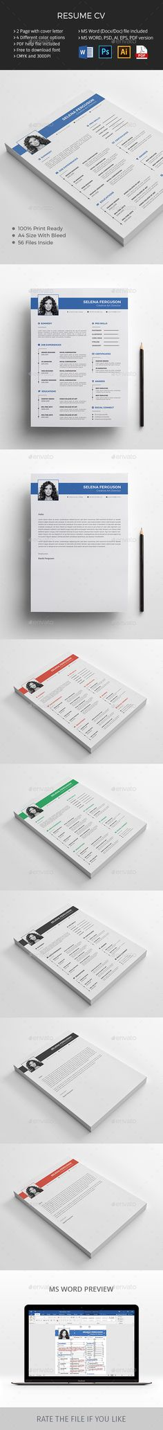 Resume CV Resumes Stationery Download here