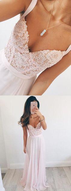 2017 long prom dresses,simple lace long prom dresses, deep v-neck prom party dresses, cheap lace party dresses, white prom dresses, fashion dresses, vestidos