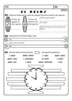 Son fichas para trabajar las unidades de medida temporales: El calendario, los meses y el reloj. El Calendario 1 El Calendario 2 Los mese...