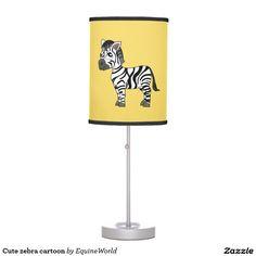 Cute zebra cartoon table lamps