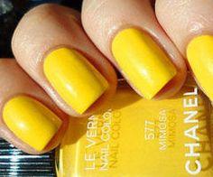 Lemon Yellow Nails by Chanel