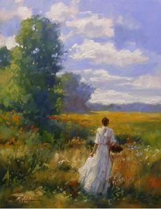 Golden Field by Richard Johnson Oil ~ 20 x 16