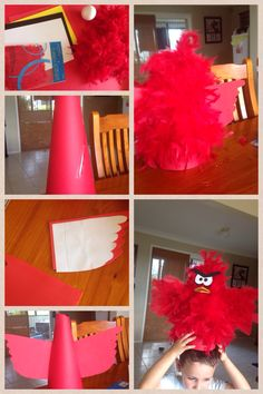 Angry bird easter hat