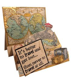 Stampendous » Better to Travel Step Card by Kristine Reynolds