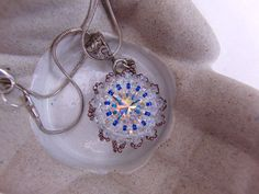 Hand Sewn Beaded Pendant Necklace Jewellery by OswestryJewels