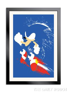 Sonic, Tails, and Knuckles Splattery Triptych by The Daily Robot.