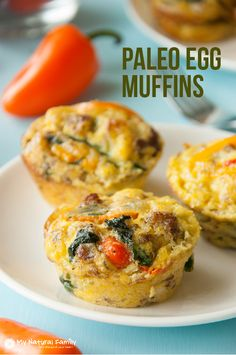 This is a Paleo egg muffin recipe that is so convenient, packed with flavor, veggies and meat and tastes great. It is a great way to get a whole breakfast.
