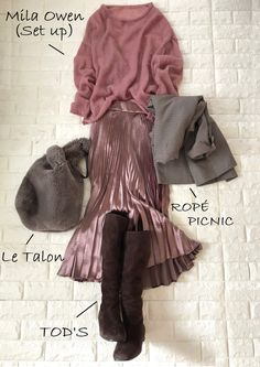 Fashion Over 50, Slow Fashion, Work Fashion, Skirt Fashion, Fashion Looks, Winter Outfits, Cool Outfits, Casual Outfits, Olive Clothing