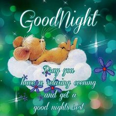 Goodnight Sweet dreams.