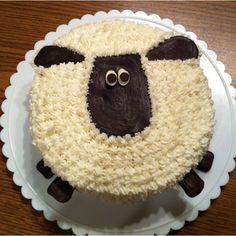 My Shaun the Sheep Cake, inspired by http://smartmama.blogspot.ca/2011/11/how-to-make-shaun-sheep-cake.html?m=1