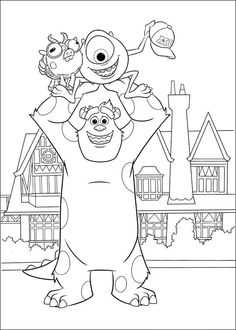 Try Our Free Monsters University Coloring Pages Your Child Can Color His Or Her Favorite Characters From Including Mike Sulley