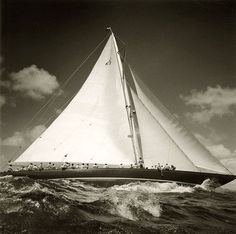 Nautical Handcrafted Decor and Ship  Models: Classic Sailing Yachts Under Sails Like this.