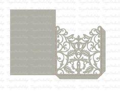 Wedding invitation SVG DXF ai CRD eps Vintage Lace