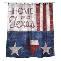 Avanti Texas State Flag Shower Curtain Hooks Set Of 12 Red White Blue