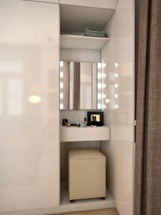 Best Tiny Bathroom Storage Solutions Built Ins Ideas Wardrobe Design Bedroom, Bedroom Wardrobe, Dressing Table Inside Wardrobe, Built In Dressing Table, Built In Vanity, Dressing Table Design, Bathroom Storage Solutions, Bedroom Cupboard Designs, Vanity Design