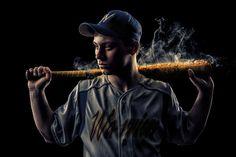 Sports Enhancement Session Baseball, Batter, Smoke Joshua Hanna Photography Cross Lanes, WV