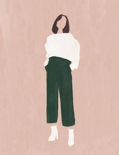 - Sweater Fashion - My dream personal style in an illustration. My dream persona. People Illustration, Illustrations, Illustration Art, Art Sketches, Art Drawings, Cover Wattpad, White Leather Boots, Ipad Art, Aesthetic Art