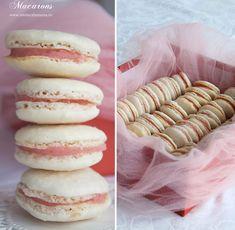 macarons, reteta pas cu pas de macarons Macarons, Doughnut, Vanilla Cake, Deserts, Sweets, Cookies, Recipes, Food, Heart