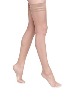 b0b0108324e93 Alice Olivia Opaque Thigh-High Stockings by Pretty Polly, Nude, Size: SMALL