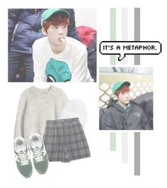 """""""Yoon Sanha"""" by lazy-alien ❤ liked on Polyvore featuring H&M, Topman, New Balance, Astro, YoonSanha and sanha"""