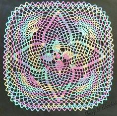 A Stitch At A Time for Amy B Stitched: MANDALILY, a FREE crochet doily pattern