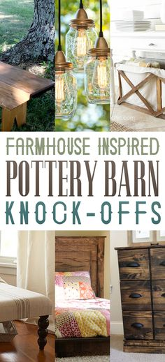 If you love the Farmhouse Fixer Upper Style...then you are going to adore these fabulous Farmhouse Inspired Pottery Barn Knock-offs!!!!!