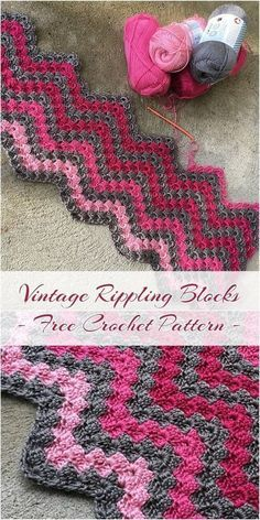 You will Love this adorable Vintage Rippling Blocks Crochet Pattern! This patt… You will Love this adorable Vintage Rippling Blocks Crochet Pattern! This pattern works up very quickly using your favorite yarn and hook. I love stitch used. Crochet Afghans, Motifs Afghans, Afghan Crochet Patterns, Crochet Patterns For Beginners, Crochet Stitches, Crochet Baby, Knitting Patterns, Crochet Blankets, Baby Blankets