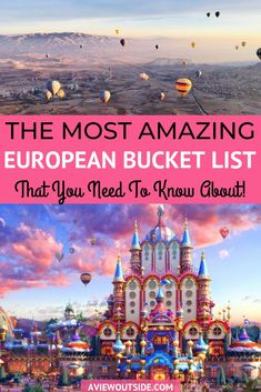 In this post you will be taken on a unique travel journey through the most mesmerizing European bucket list destinations. Check out some jaw-dropping European countries intriguing towns and hidden gems from all over Europe. Travel Tips Travel Hacks Europe Bucket List, Bucket List Destinations, Travel Destinations, Europe Travel Guide, Travel Guides, Backpacking Europe, Travel Info, Europe Packing, Iceland Travel