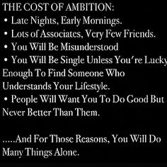 The Cost of Ambition  http://www.TawnyaJean.biz
