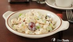 Curried Chicken and Grape Salad - The perfection combination of sweet and spicy, crunchy and creamy!