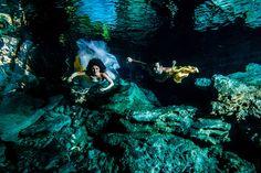 Viaggio di nozze – Messico foto subacquee - Chiara and Emiliano