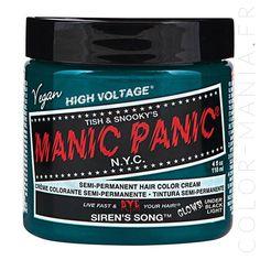 Coloration Cheveux Vert Chant de Sirène Manic Panic | Color-Mania.fr