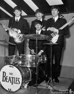 """Ringo Starr Original The Beatles Ludwig Oyster Pearl Drum Set Kit. The kit was used by Starr in more than 200 performances between May of 1963 and February of 1964 and used to record : """"Can't Buy Me Love,"""" """"She Loves You,"""" """"All My Loving,"""" """"I Want to Hold Your Hand,"""" """"Money,"""" and """"I Wanna Be Your Man,"""" and many others. Paul McCartney also used the Oyster Black Pearl kit on his first solo album, McCartney. This specific drum kit has not been seen in public for more than 50 years."""