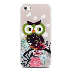 For Capinha Para iPhone 5S Case Cute Owls Cartoon Soft TPU Gel Cover for Case iPhone 5S 4 4S SE/IP 6 6S Plus Cases Capinha 5S