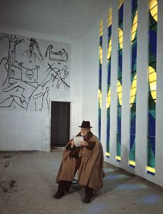 Henri Matisse in the Matisse Chapel, Nice