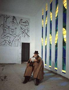 Henri Matisse in the Matisse Chapel, Nice