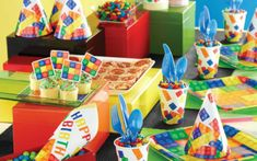 Party Supplies and Boutiques - My Kids Party Party Trays, Party Plates, Dessert Plates, Block Party Desserts, Online Party Supplies, Birthday Party Tables, Party Favor Bags, Party Guests, Treat Bags