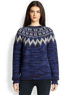 Cardigan  Charlie Fair Isle Crew Sweater xx Saks
