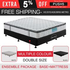Bed Base Queen Multiple Colour & Memory Foam Pillow Top Mattress New Ensemble Foam Pillows, Bed Pillows, Queen Memory Foam Mattress, Queen Mattress, Cheap Mattress, Fitted Bed Sheets, Pillow Top Mattress, Bed Base, Mattress Springs
