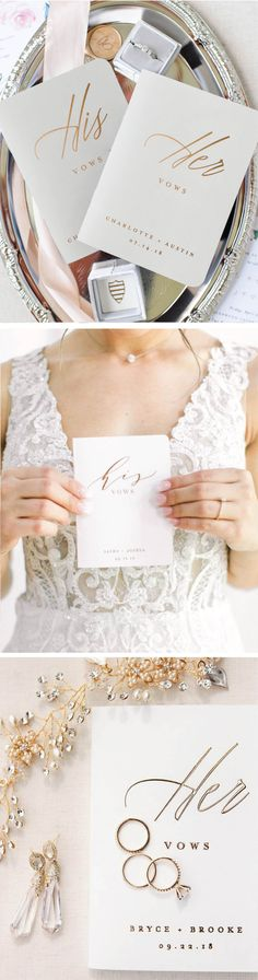 our heirloom vow books are perfect for writing his and her vows