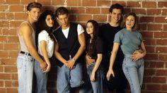 The General Hospital teen scene in the early 90s. (Sean Kanan, Vanessa Marcil, Steve Burton, Kimberly McCullough, Antonio Sabato Jr. and Cari Shayne) who played (AJ, Brenda, Jason, Robin, Jagger and Karen.)