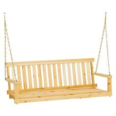 Jack Post Classic Porch Swing - Natural Finish