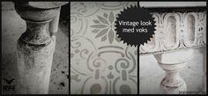 Redesign og vintage look med kalkmaling fra Vintro. Her er det også brukt mørk voks for det rustikke uttrykket. http://www.bravedesign.no/