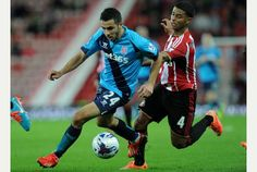 Assaidi in action. No points at Sunderland.
