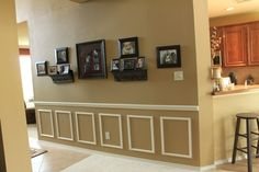 wainscoting in 2 colors