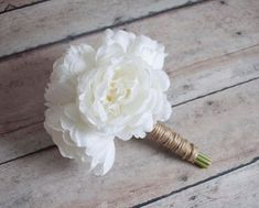 Petite Ivory Peony Wedding Bouquet - Rustic Peony Bouquet Bouquet Toss, Hand Bouquet, Flower Girl Bouquet, Peonies Bouquet, Rose Bouquet, Silk Wedding Bouquets, Corsage Wedding, Wedding Flowers, Wedding Schedule