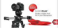 SliderPLUS-  I bought one of these.  Micro slider that travels twice its own length with a system of pulleys and cogs. Not perfect, but cool.